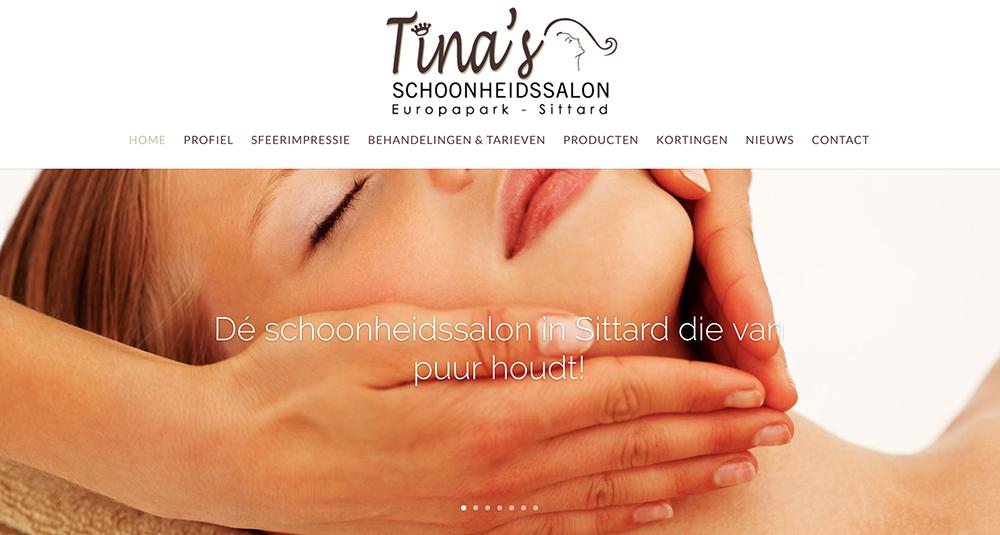 Nieuwe look & feel voor de website van Tina's Schoonheidssalon
